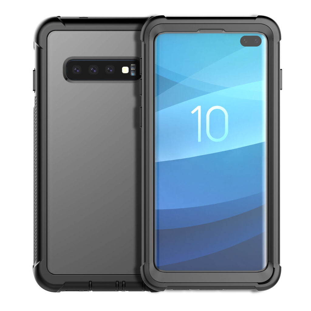 S10 Plus Case Samsung Galaxy Full-Body Rugged Clear Hybrid Bumper Case