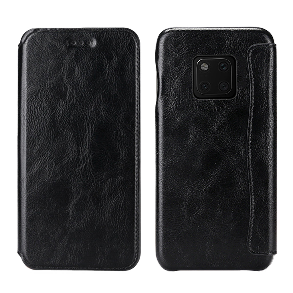 Huawei mate 20 pro Case Wallet Design Premium Leather Case with Card Holder Slot Black