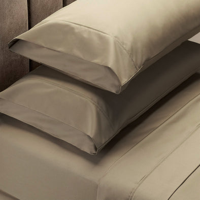 Renee Taylor 1500 Thread Count Cotton Blend Sheet Set - King - Stone