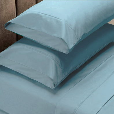 Renee Taylor 1500 Thread Count Cotton Blend Sheet Set - Queen - Indigo