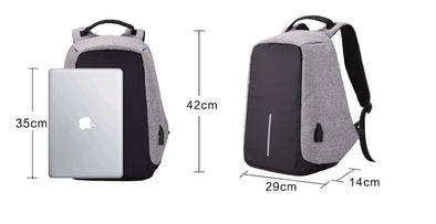 Milano Anti Theft Backpack  - Grey