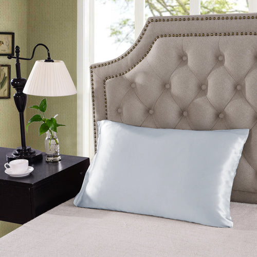 Royal Comfort Mulberry Silk Pillow Case Twin Pack - Silver