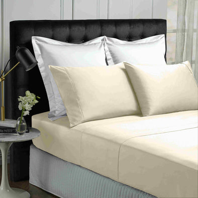 Park Avenue 500 Thread count Cotton Bamboo Sheet sets King Vanilla