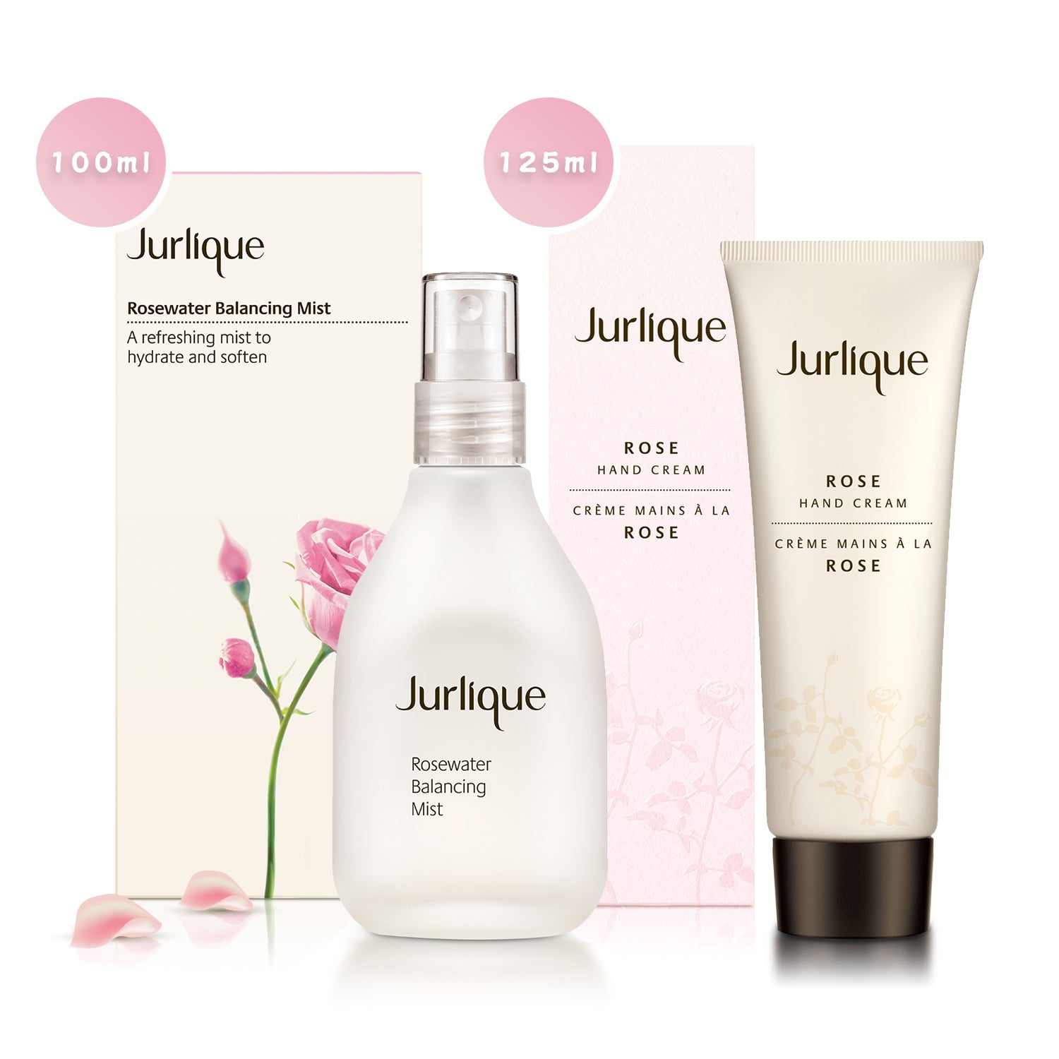 Jurlique Rosewater Balancing Mist 100ml (3.3oz.) + Rose Hand Cream 125ml (4.3oz.) [ FREE SHIPPING ]