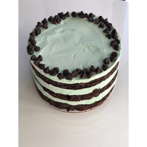 Naked Chocolate Creme De Menthe Cake (6-inch, 3-layers) *LA & OC delivery & pick-up only*