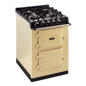 AGA City24 Dual Fuel Cast Iron Range with Gas Burners PISTACHIO