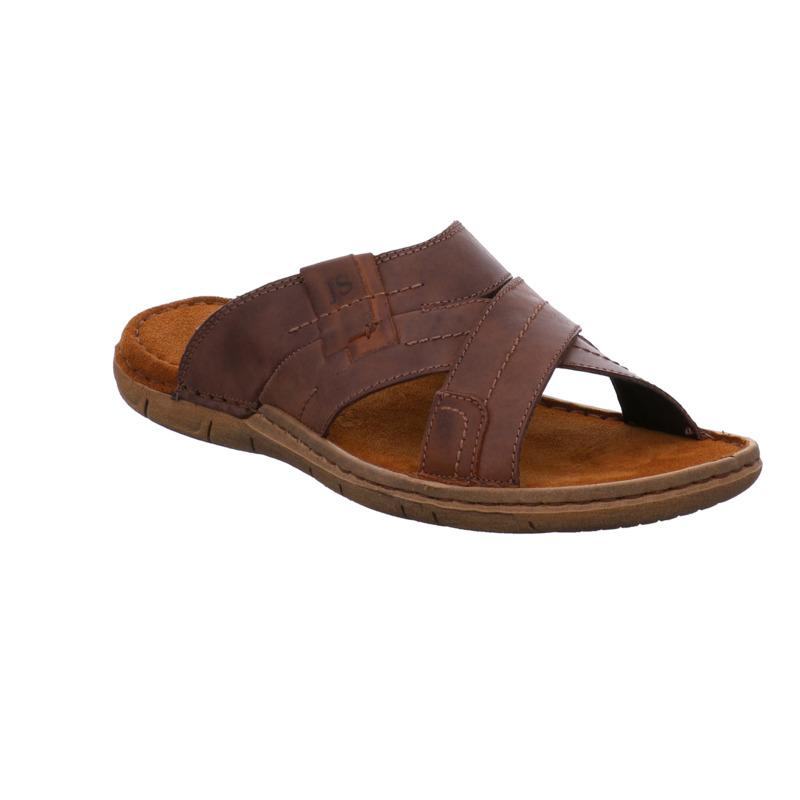 Men's Josef Paul 29 Leather Slider Sandal Brown