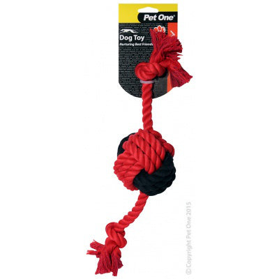 ACTIV ROPE W/ BALL 40CM RED/BL