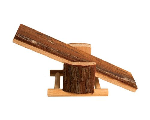 NATURAL WOOD HAMSTER SEESAW