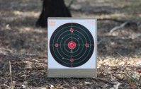 GlowShot 12″ Heavy Card Reactive Splatter Shooting Targets, Multi Colour