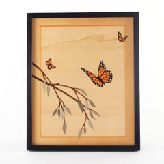Monarch Butterfly Marquetry Artwork