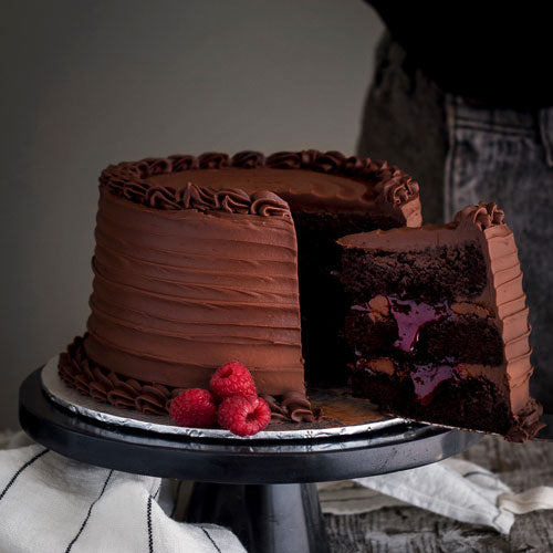 Gluten-Free Vegan Nut Free Chocolate Raspberry Birthday Cake