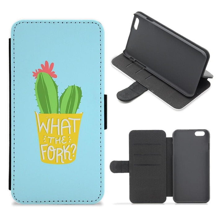 What The Fork Cactus - The Good Place Flip Wallet Phone Case - Fun Cases