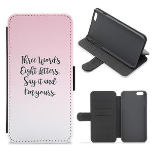 Three Words, Eight Letters - Gossip Girl Flip Wallet Phone Case - Fun Cases