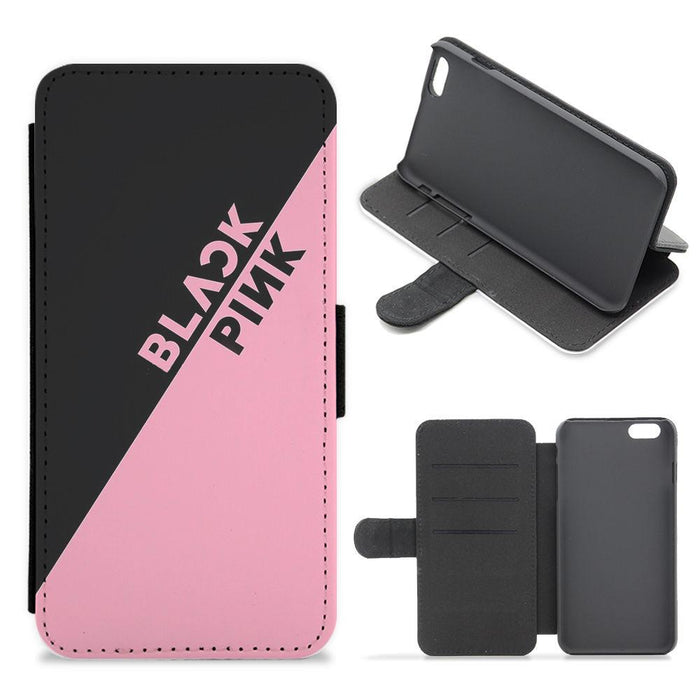 Diagonal Blackpink Logo Flip / Wallet Phone Case