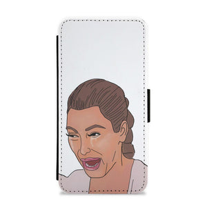 Crying Kim Kardashian Flip / Wallet Phone Case