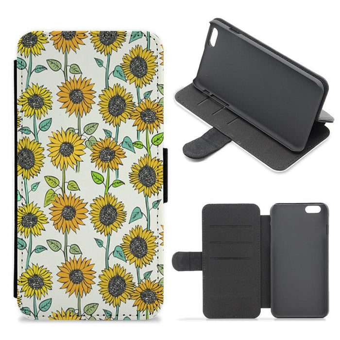 Painted Sunflowers Flip Wallet Phone Case - Fun Cases