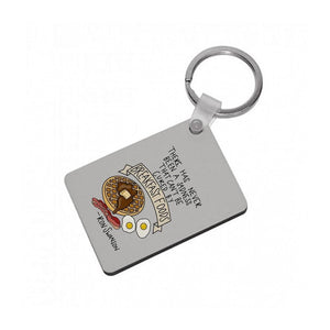 Breakfast Foods - Parks and Recreation Keyring - Fun Cases
