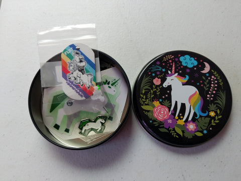 Unicorn Munzee Tin