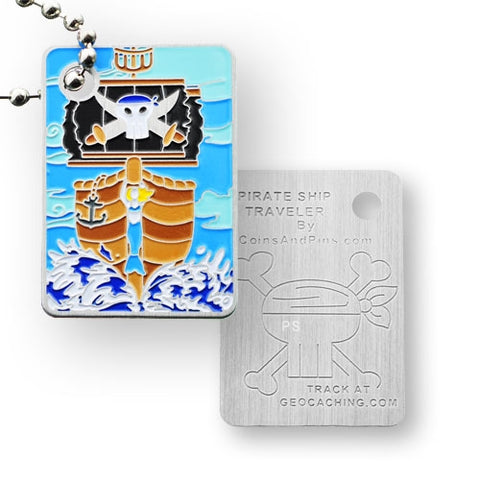 Pirate Ship Travel Tag