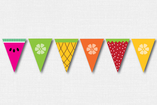 Fruit Slice Pennant Banner - DIY