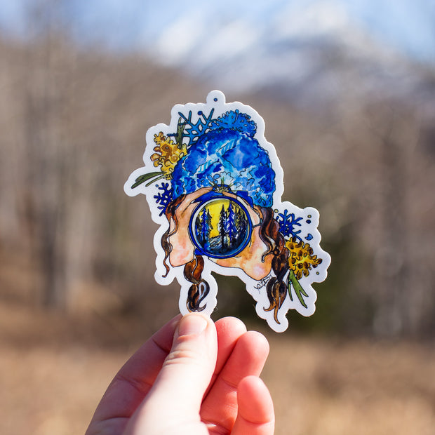 Adventure Babes - The Photographer Sticker