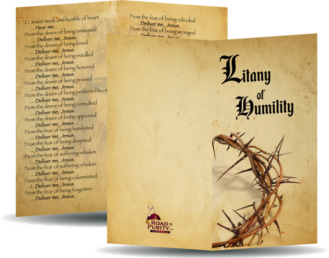 "Litany of Humility - Prayer Card / 3"" x 6"" folded  (b)"