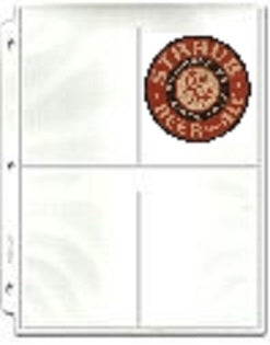 4-Pocket Protective Pages - Beer Coaster Pages - Hobby Master - hobbymasterstore