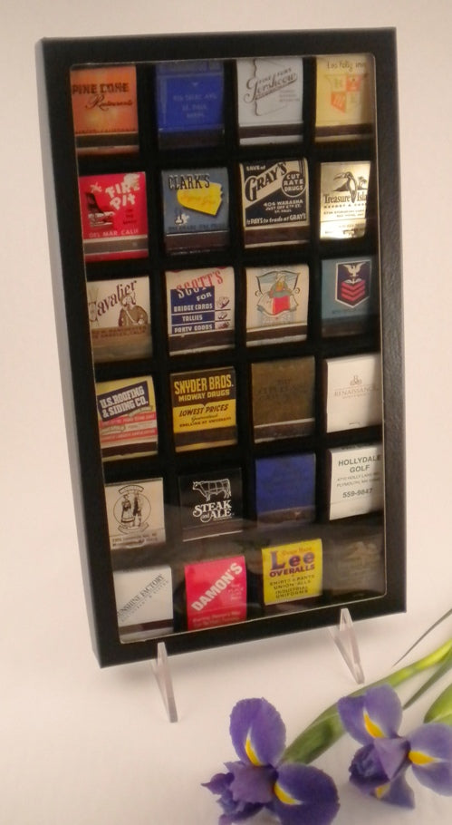 Matchbook Display Case, 24-space 20-Strike - Matchbook Displays - Hobby Master - hobbymasterstore