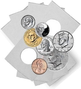 Coin Flip Assortment 25 Each of 6 Sizes Plus Coin Box - Coin & Currency Holders - Hobby Master - hobbymasterstore