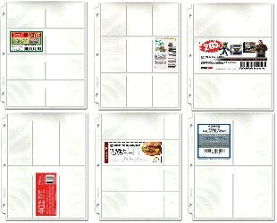 Coupon Binder Pages - 50 Page Assortment (6 page types) with Bonus Sleeve - Coupon Pages - Hobby Master - hobbymasterstore