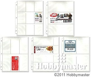 Coupon Binder Pages - 50 Page Assortment (5 page types) with Bonus Sleeve - Coupon Pages - Hobby Master - hobbymasterstore
