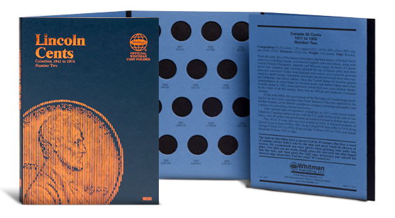 Whitman Coin Folder - Lincoln Cent #2, 1941-1974 - Coin Folders - Hobby Master - hobbymasterstore
