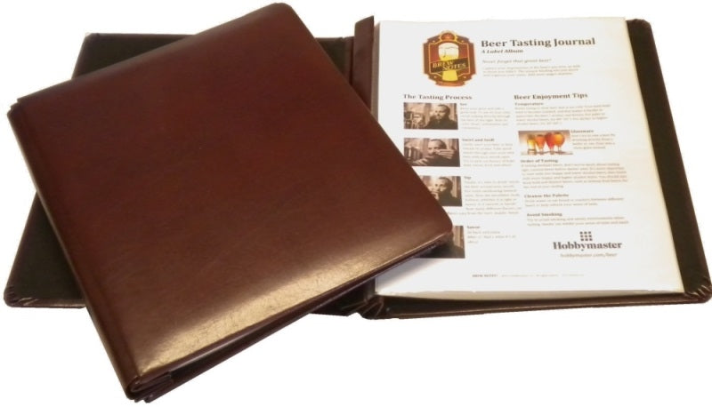 BREW NOTES® Leather Beer Tasting Journal - Brew Notes Journals - Hobby Master - hobbymasterstore