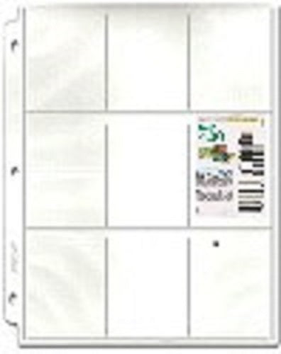 9-Pocket Coupon Pages - Coupon Pages - Hobby Master - hobbymasterstore