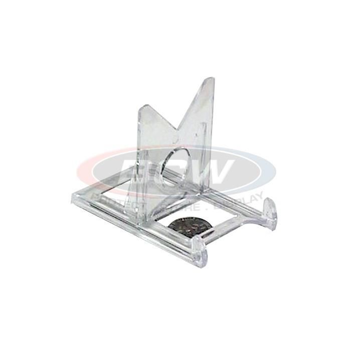 Card or Toploader Stand-2 Piece Clear - Trading Card Sleeves & Screwdowns - BCW - hobbymasterstore