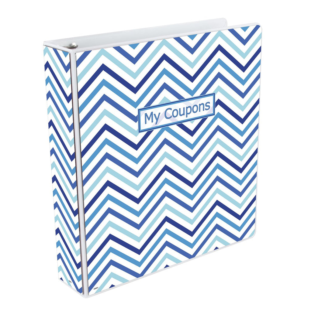 Coupon Organizer Binder - Chevron Blue - Coupon Binders - Ultra Pro - hobbymasterstore