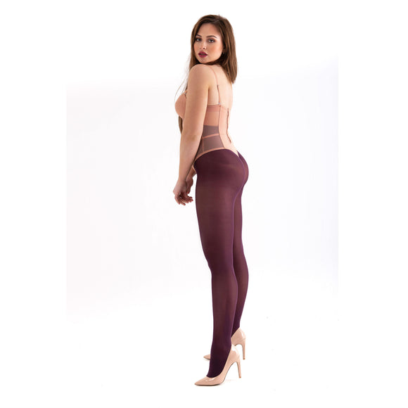 EL528 Essexee Legs 40D Opaque Tights Berry