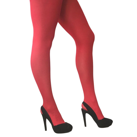 JA600 Jonathan Aston 40D Colour Opaque Tights Scarlet
