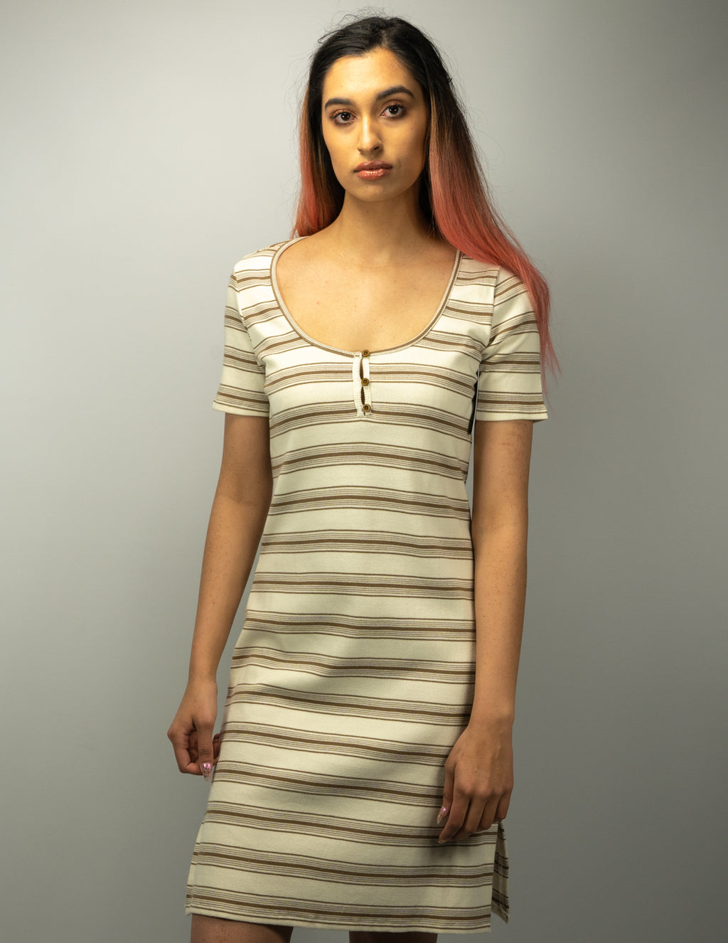 Rvca - Vamp Striped Knit Dress