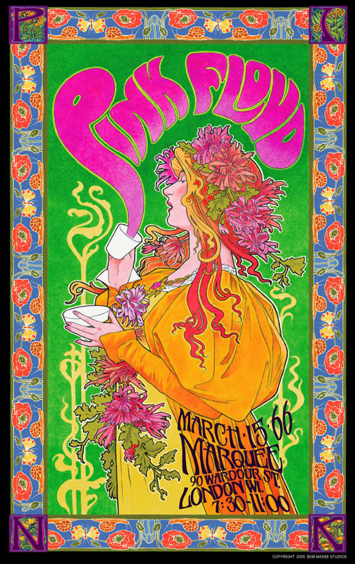 Pink Floyd – Commemorative Poster – Live at the Marquee Club, London March 15th, 1966