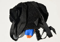 African American Backpack Doll (Blue Dress) Back View