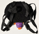 African American Backpack Doll (Purple Dress) Back View