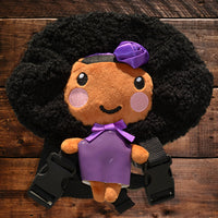 African American Backpack Doll (Purple Dress)
