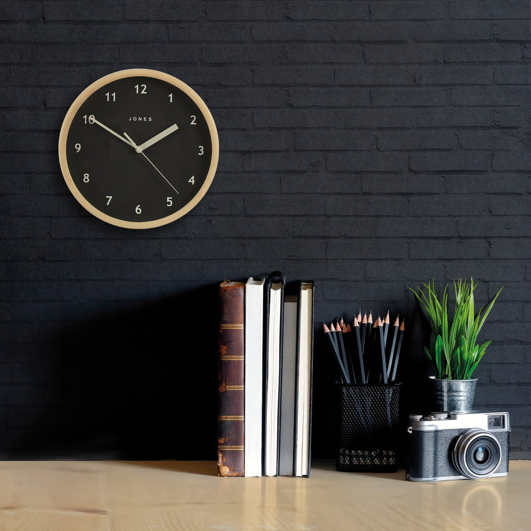 Small Modern Wall Clock | Grey | Jones Clocks | Spin 628 - style