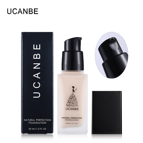 UCANBE Brand Liquid Foundation Makeup Natural Full Cover Flaws Face Base Concealer Primer Whitening BB Cream Waterproof Cosmetic