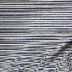 Blue Stripe Cotton Velour