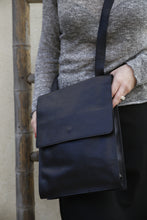 Load image into Gallery viewer, Black crossbody Messenger Bag