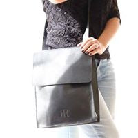Load image into Gallery viewer, Black Glitter crossbody Messenger Bag