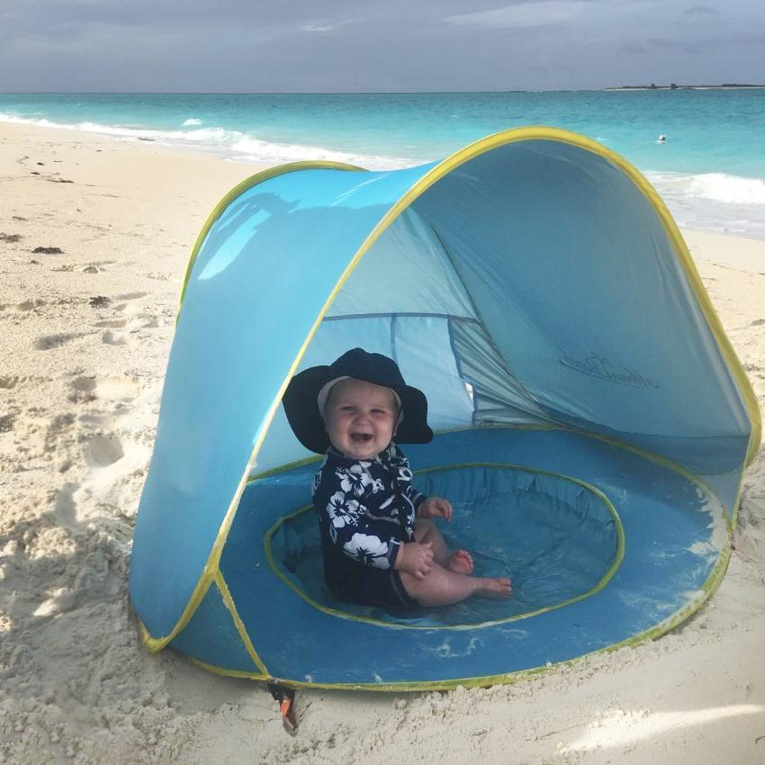 Pop Up Beach Tent UV Protection With Mini Pool